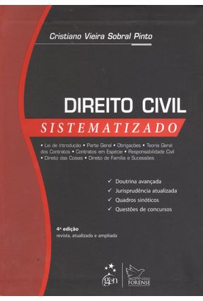 Usado - Direito Civil Sistematizado - 4ª Ed. 2012 - Pinto,Cristiano Vieira Sobral   Tagrny.org