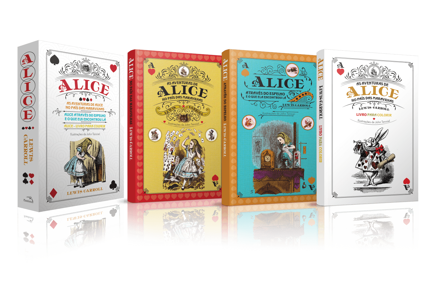 Alice Nos Pais Das Maravilhas Filme Online box - alice no país das maravilhas - 3 volumes