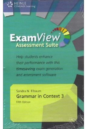 Grammar In Context - 5e - 3 - Assessment CD-ROM With Examview - Elbaum,Sandra N.   Nisrs.org