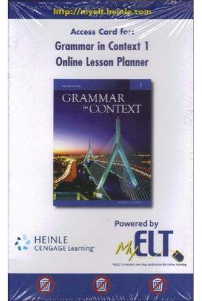Grammar In Context - 5e - 1 - Online Lesson Planner - Elbaum,Sandra N.   Hoshan.org