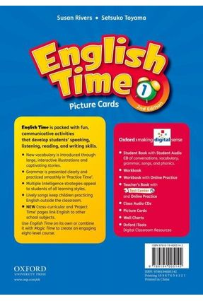 ENGLISH TIME 1 - PICTURE CARDS -  2ª Ed. - Editora Oxford | Nisrs.org