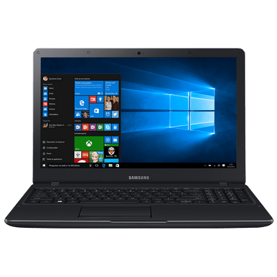 "Usado - Notebook Samsung Essentials E34 Preto, Tela 15.6"", Intel® Core™ i3 5005U, 4Gb, 1Tb, Win10 A."