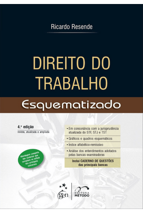 Direito do Trabalho - Esquematizado - 4ª Ed. 2014 - Dias,Ricardo Resende | Hoshan.org