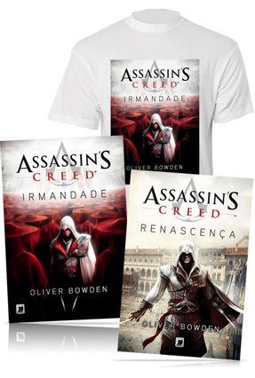 Kit Assassin's Creed - Vol. 1 e Vol. 2 + Camiseta