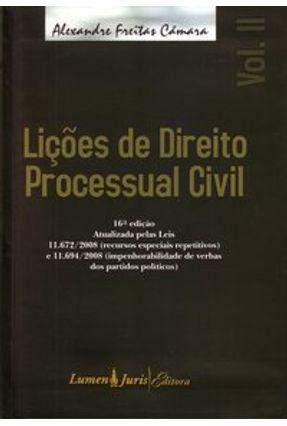 Usado - Lições de Direito Processual Civil - Vol. II - 16ª Ed. 2008