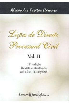 Usado - Lições de Direito Processual Civil - Vol. II - 14ª Edição 2007