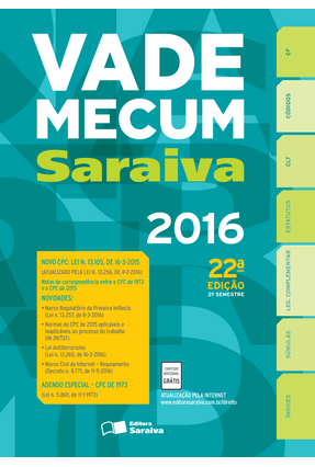 Usado - Vade Mecum Saraiva - 22ª Ed. 2016 -  pdf epub
