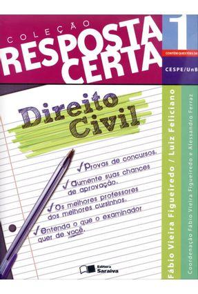 Usado - Direito Civil - Col. Resposta Certa - Vol. 1