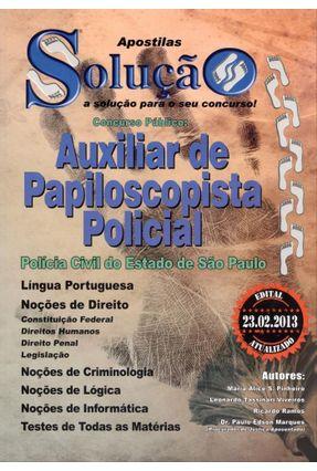 Usado - Apostila - Auxiliar de Papiloscopista Policial -  pdf epub