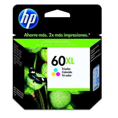 Cartucho de Tinta HP 60 Xl Tricolor - Alto Volume - Cc644wb