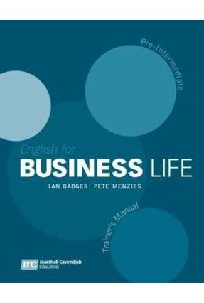 English For Business Life - Pre-intermediate - Trainer´s Manual - Badger,Ian Menzies,Pete   Hoshan.org