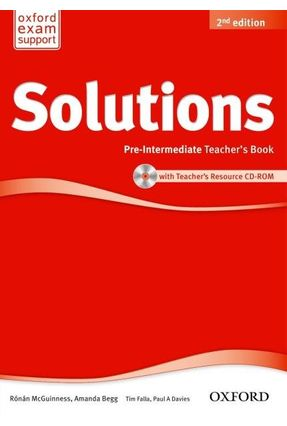 Solutions - Pre-Intermediate - Teacher's Book And CD-ROM Pack - 2ª Ed. - Editora Oxford | Hoshan.org