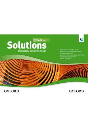 Solutions: Elementary - Online Workbook Card With Access Code - 2ª Ed. - Editora Oxford | Nisrs.org