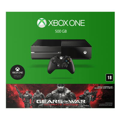 Reembalado - Console Xbox One Sem Kinect + Jogo Gears Of War - Ultimate Edtion (Download)