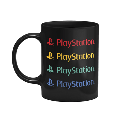 Caneca Playstation Color Cor Preto 325 ml Licenciado Sony