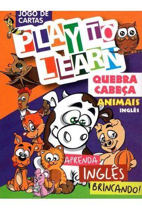 Aprenda Inglês Brincando - Jogo de Cartas - Quebra Cabeça Animais - Play To Learn | Hoshan.org