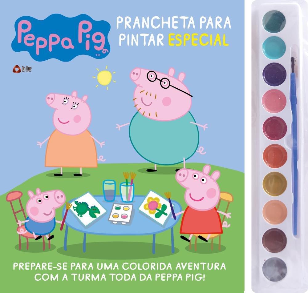 Peppa Pig Prancheta Para Pintar Especial Saraiva