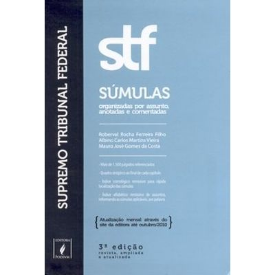 Stf Sumulas - Superior Tribunal Federal