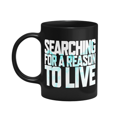 Caneca Days Gone Searching For A Reason To Live Cor Preto 325 ml Licenciado Sony