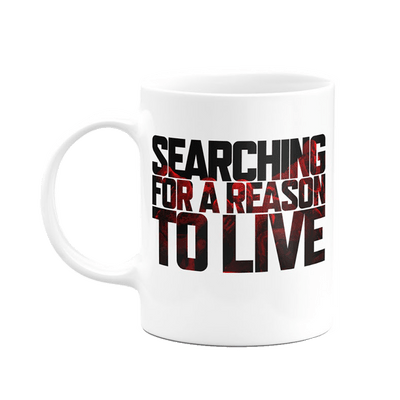 Caneca Days Gone Searching For A Reason To Live Cor Branco 325 ml Licenciado Sony