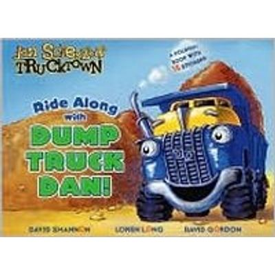 Ride Along With Dump Truck Dan!: A Foldout Book With 15 Stickers!