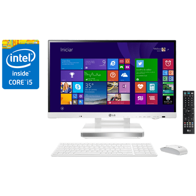 Reembalado - Computador All In One LG 23V545-G.Bk51p1 TV Digital Intel® Core™ i5-4200M 4Gb HD 500Gb SSD 32Gb, 23""