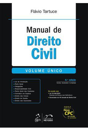 Usado - Manual de Direito Civil - Volume Único - 6ª Ed. 2016 - Tartuce,Flávio pdf epub