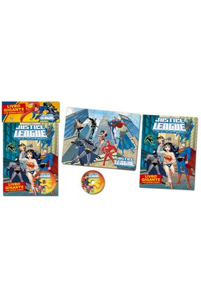 Livro Gigante Com Quebra-Cabeça - Justice League Unlimited