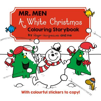 Mr Men A White Christmas Colouring Book
