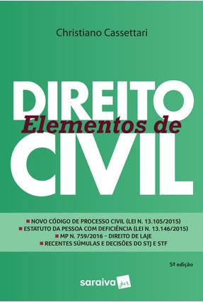 Elementos de Direito Civil - 5ª Ed. 2017 - Cassettari,Christiano pdf epub