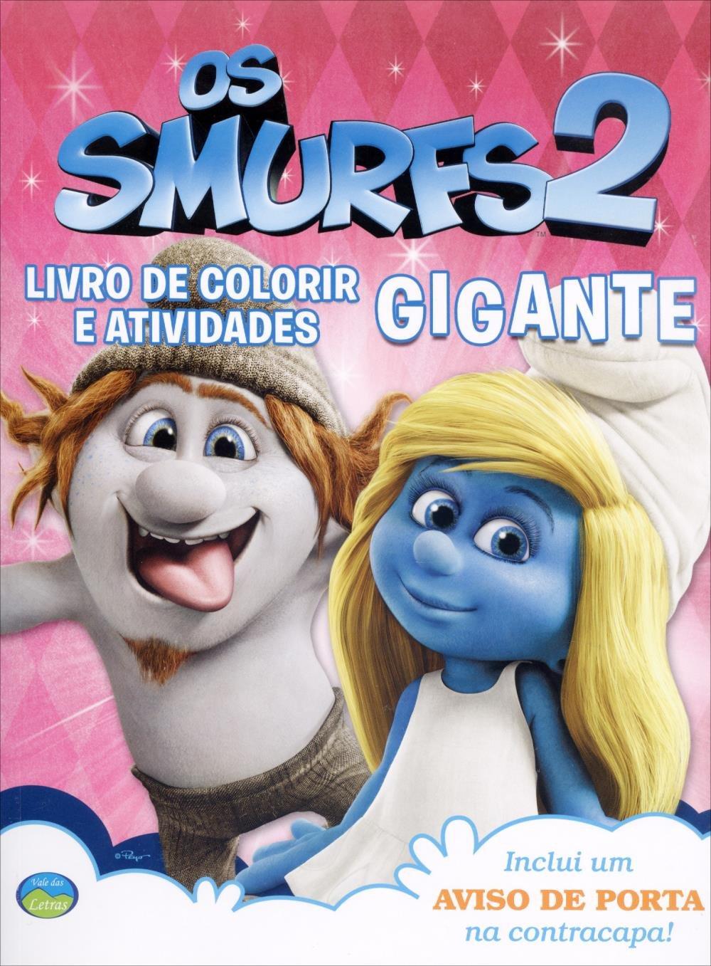 Os Smurfs 2 Livro De Colorir E Atividades Gigante Rosa Saraiva