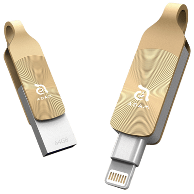 Pen Drive 64Gb Adam Elements Iklips Duo Dourado Para iPhone