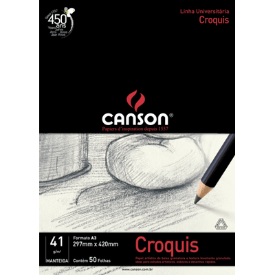Canson Universal Student Croquis A-3 - 50 Folhas
