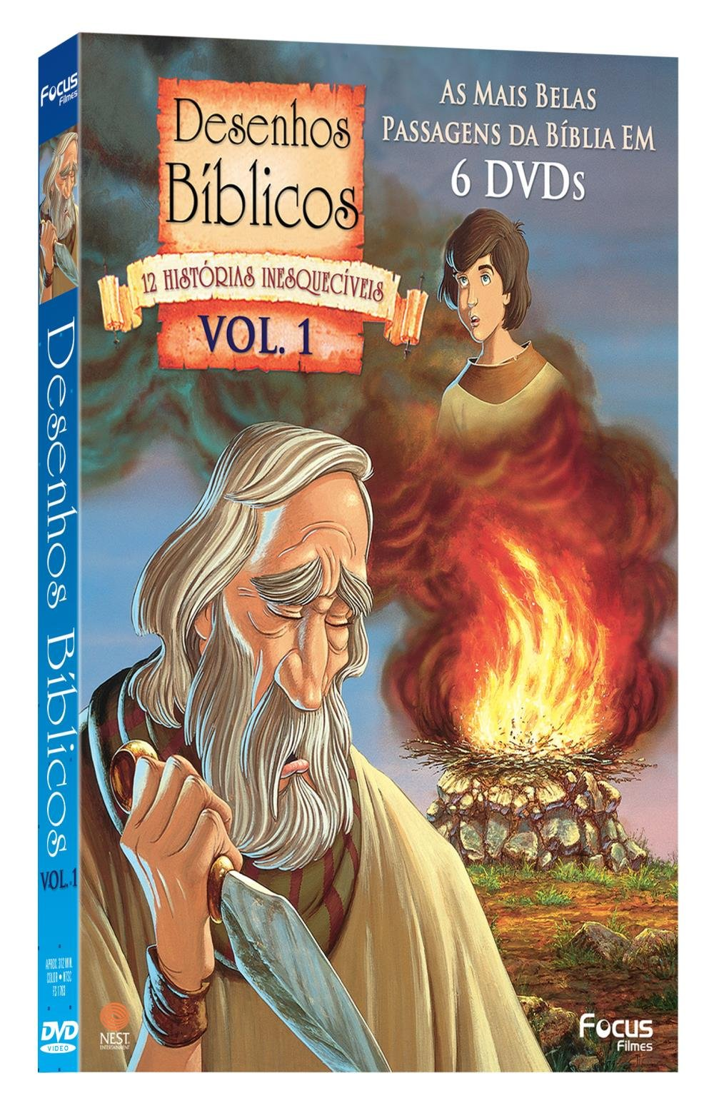 Dvd Colecao Desenhos Biblicos 12 Historias Inesqueciveis Vol 1