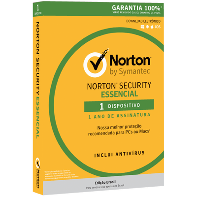 Norton Security Essencial - 1 Dispositivo 12 Meses De Assinatura