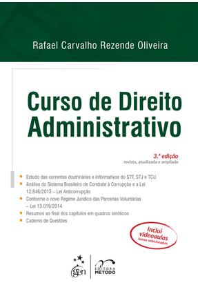 Usado - Curso de Direito Administrativo - 3ª Ed. 2015 - Oliveira,Rafael Carvalho Rezende | Hoshan.org