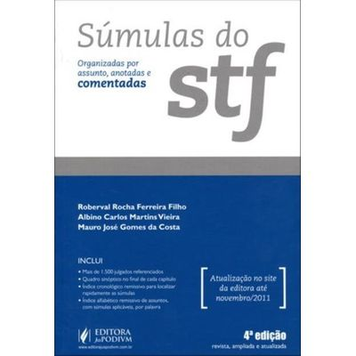 Súmulas do Supremo Tribunal Federal - 4ª Ed.