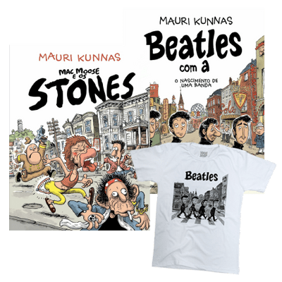 Combo HQ Beatles e HQ Stones + Camiseta Exclusiva de Brinde