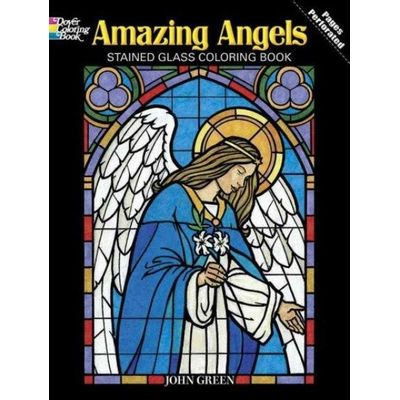 Dover Coloring Books - Amazing Angels Stained Glass Coloring Book