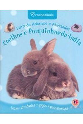 Livro de Adesivos e Atividades - Coelhos e Porquinhos-da-índia