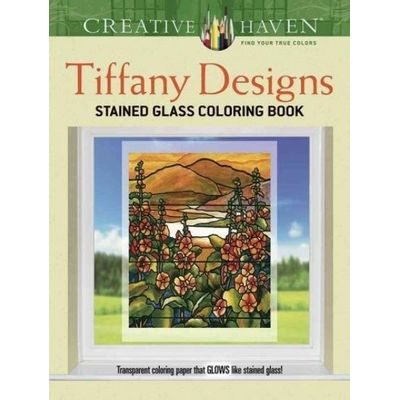 Creative Haven Coloring Books - Creative Haven Tiffany Designs Stained Glass Coloring Book