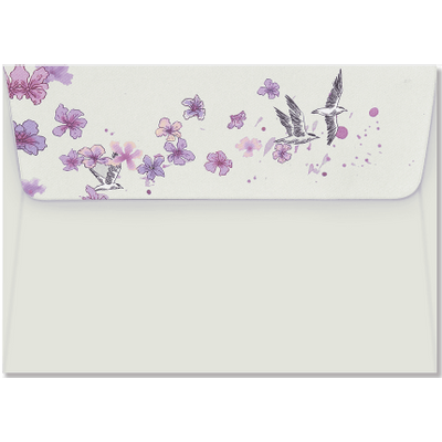 Small Boxed Everyday Note Cards - Peter Pauper 12,7X8,9X3,8 - Birds In Flight Note Cards