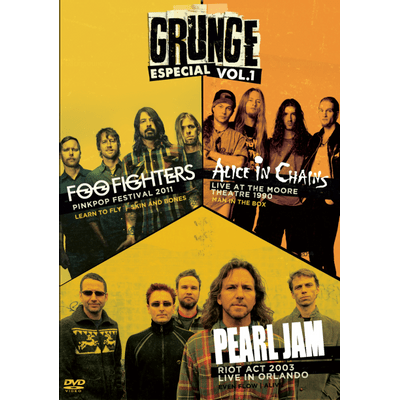 Grunge Especial Vol.1 - Foo Fighters, Alice In Chains e Pearl Jam - DVD