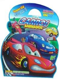 Carros Animados 8 Volumes Super Cd 4 Em 1 Desenho Animado Em