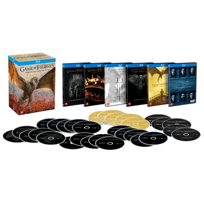 Blu-Ray Game Of Thrones - Temporadas Completas 1-6 - 5 Discos