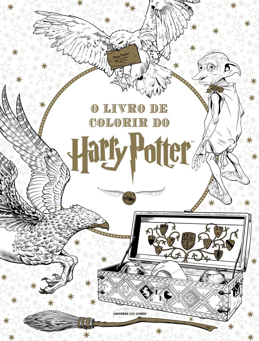 O Livro De Colorir Do Harry Potter Saraiva