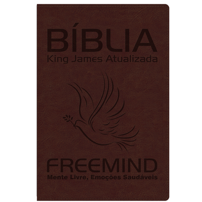 Bíblia King James Freemind Augusto Cury - Bordô