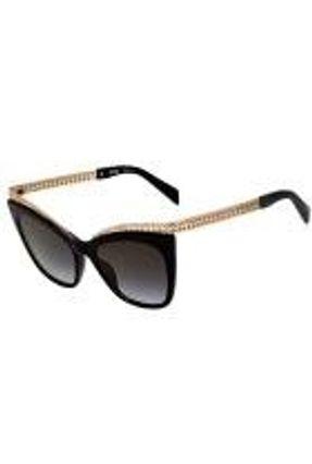 Moschino Mos009 S - Óculos De Sol 807 Fq Preto E Dourado Bri