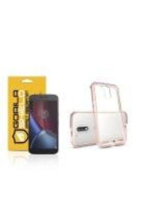 Kit Capa Ultra Slim Air Rosa e Película de vidro dupla para Motorola Moto G4 plus  - Gorila Shield
