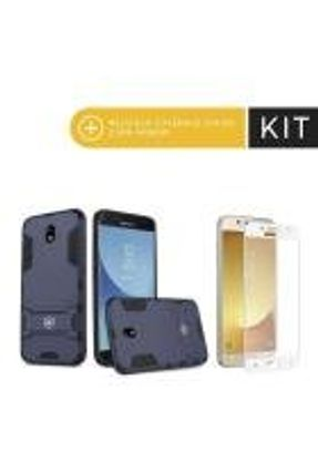 Kit Capa Armor e Peli´cula Coverage Branca para Galaxy J5 Pro - Gorila Shield